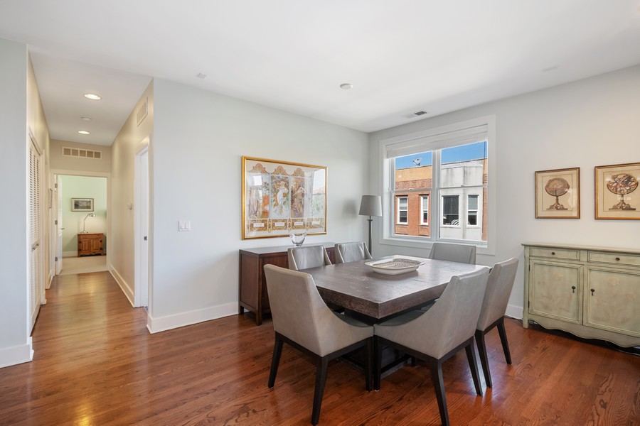 Real Estate Photography - 2771 W Francis Pl, 305N, Chicago, IL, 60647 - Dining Room
