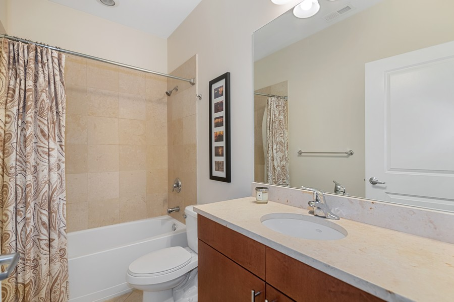 Real Estate Photography - 2771 W Francis Pl, 305N, Chicago, IL, 60647 - 2nd Bathroom