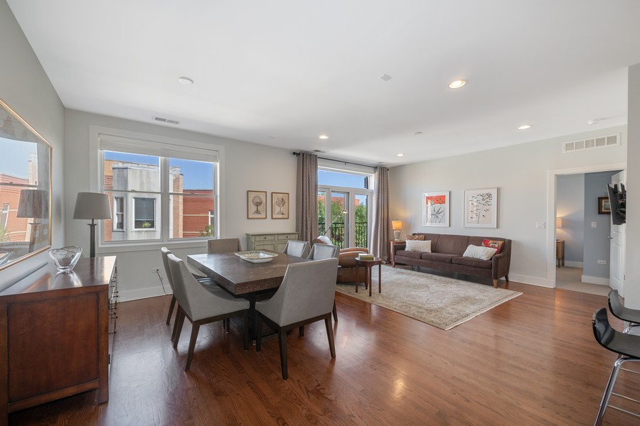 Real Estate Photography - 2771 W Francis Pl, 305N, Chicago, IL, 60647 - Living Room / Dining Room