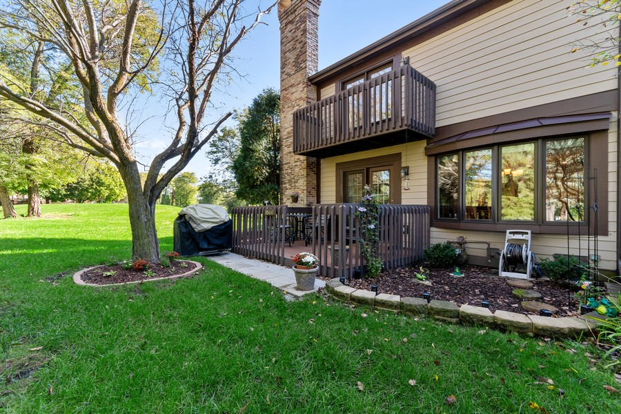 Real Estate Photography - 1860 Golf View Dr., Bartlett, IL, 60103 - Back Yard