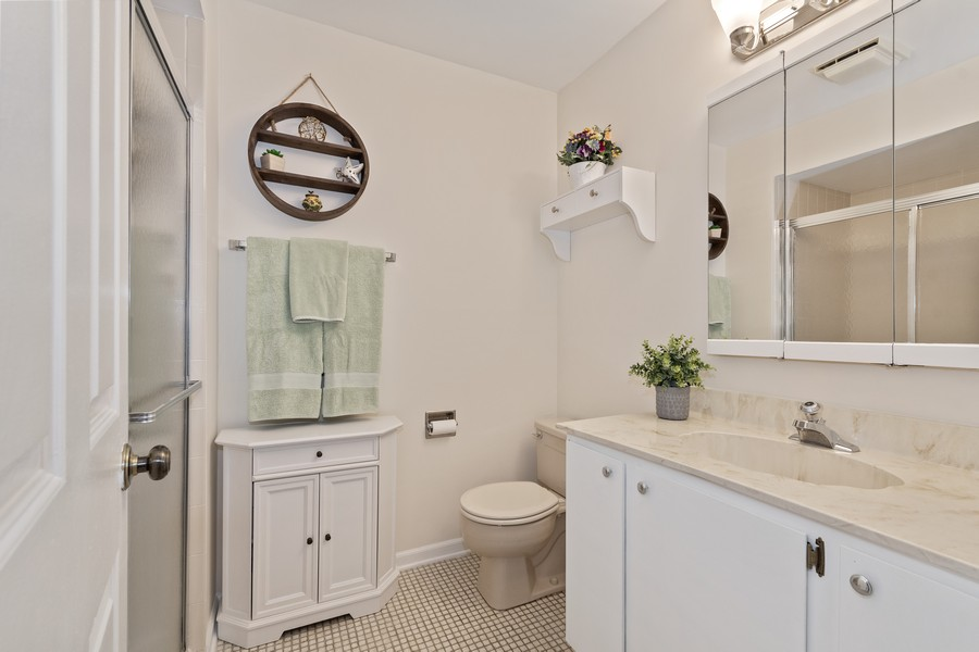 Real Estate Photography - 1860 Golf View Dr., Bartlett, IL, 60103 - 2nd Bathroom