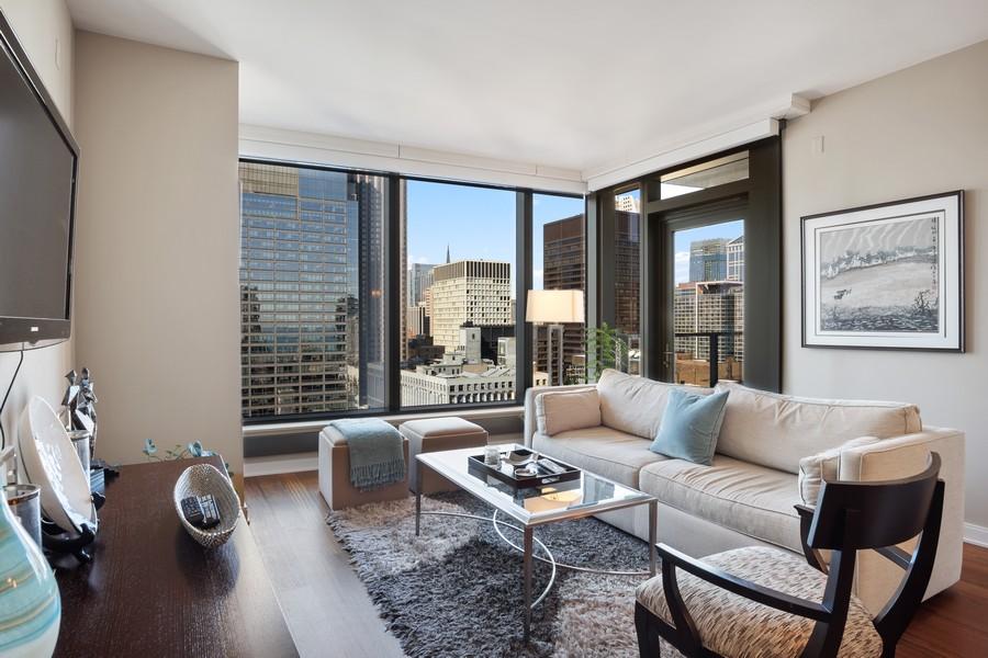 Real Estate Photography - 60 E Monroe unit 3106, Chicago, IL, 60603 - Living Room