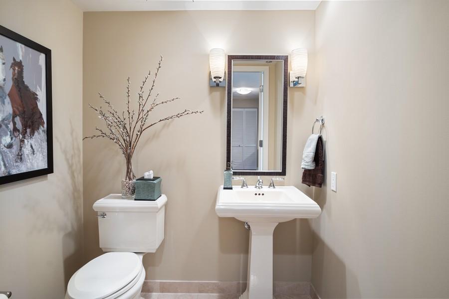 Real Estate Photography - 60 E Monroe unit 3106, Chicago, IL, 60603 - Powder Room