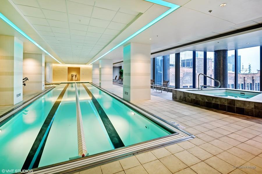 Real Estate Photography - 60 E Monroe unit 3106, Chicago, IL, 60603 - Pool