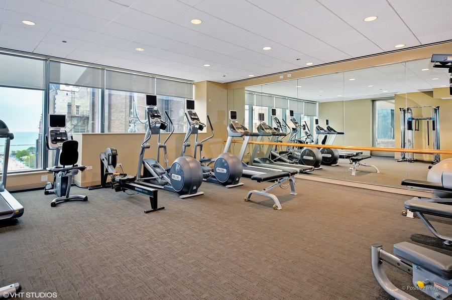 Real Estate Photography - 60 E Monroe unit 3106, Chicago, IL, 60603 - Gym