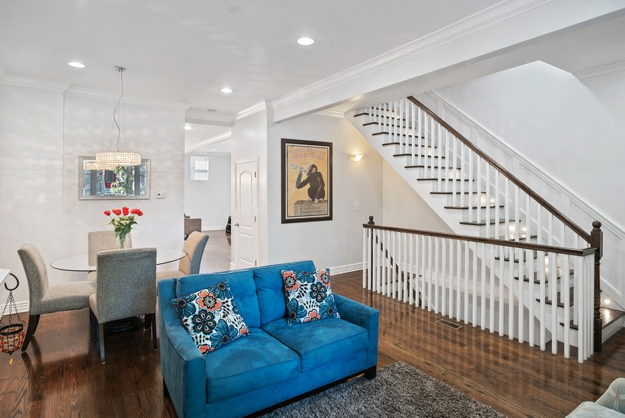 Real Estate Photography - 1427 W Fletcher, Chicago, IL, 60657 - Living Room