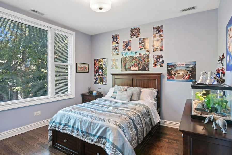 Real Estate Photography - 1427 W Fletcher, Chicago, IL, 60657 - 2nd Bedroom