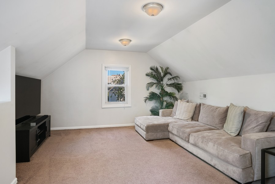 Real Estate Photography - 1427 W Fletcher, Chicago, IL, 60657 - Family Room