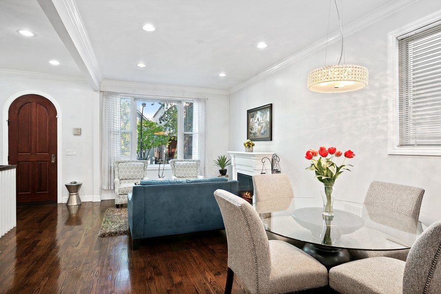 Real Estate Photography - 1427 W Fletcher, Chicago, IL, 60657 - Dining Area