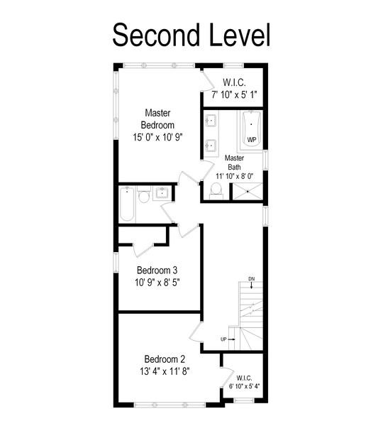 Real Estate Photography - 1427 W Fletcher, Chicago, IL, 60657 - Floor Plan