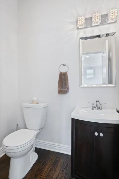 Real Estate Photography - 1427 W Fletcher, Chicago, IL, 60657 - Half Bath