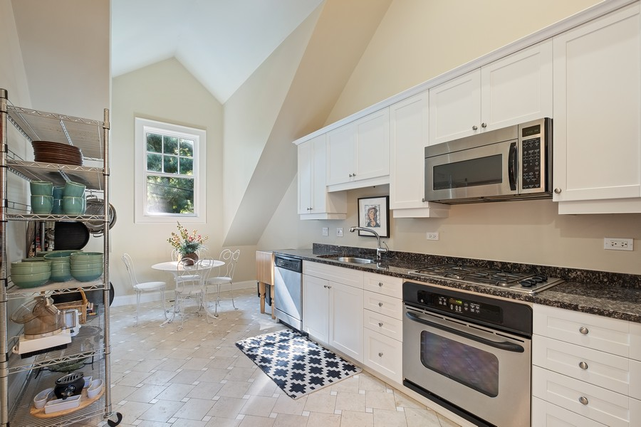 Real Estate Photography - 2754 Sheridan, Evanston, IL, 60201 - Coach house kitchen