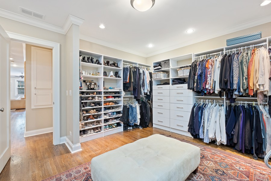 Real Estate Photography - 2754 Sheridan, Evanston, IL, 60201 - Master Bedroom Closet