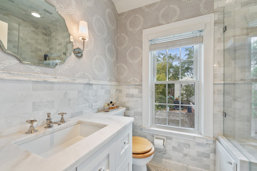 Real Estate Photography - 2154 Kenilworth Ave, Wilmette, IL, 60091 - Master Bathroom