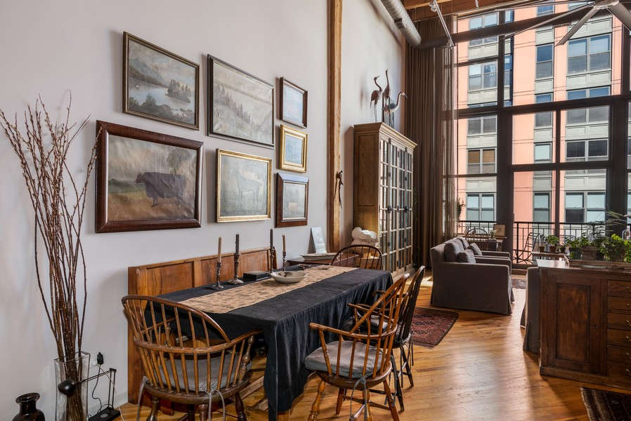 Real Estate Photography - 616 W Fulton, Unit 604, Chicago, IL, 60661 - Dining Room