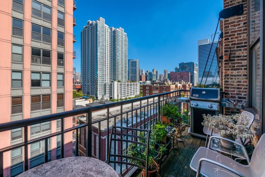 Real Estate Photography - 616 W Fulton, Unit 604, Chicago, IL, 60661 - Balcony