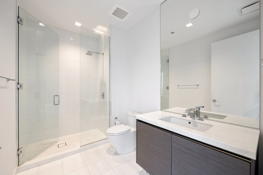 Real Estate Photography - 4 E. Elm #6N, Chicago, IL, 60611 - 3rd Bathroom