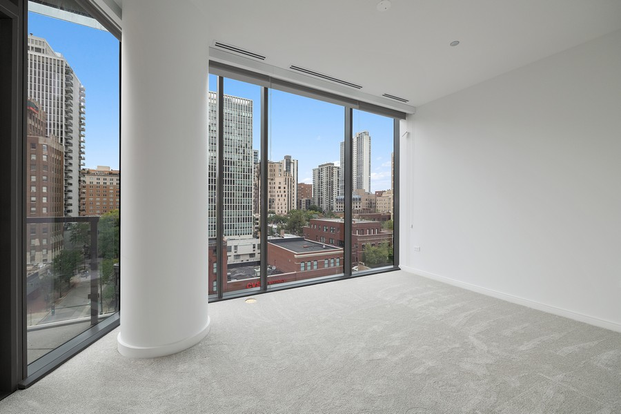 Real Estate Photography - 4 E. Elm #6N, Chicago, IL, 60611 - 3rd Bedroom