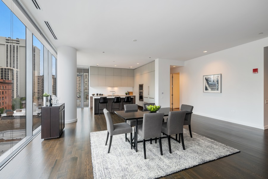 Real Estate Photography - 4 E. Elm #6N, Chicago, IL, 60611 - Dining Room