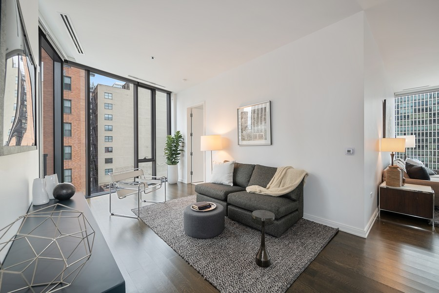 Real Estate Photography - 4 E. Elm #6N, Chicago, IL, 60611 - Family Room