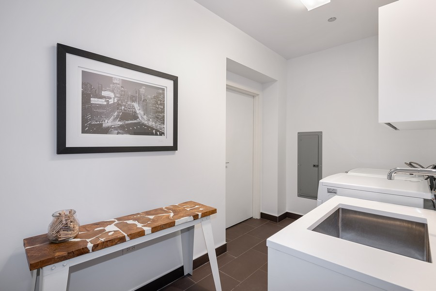 Real Estate Photography - 4 E. Elm #6N, Chicago, IL, 60611 - Laundry Room