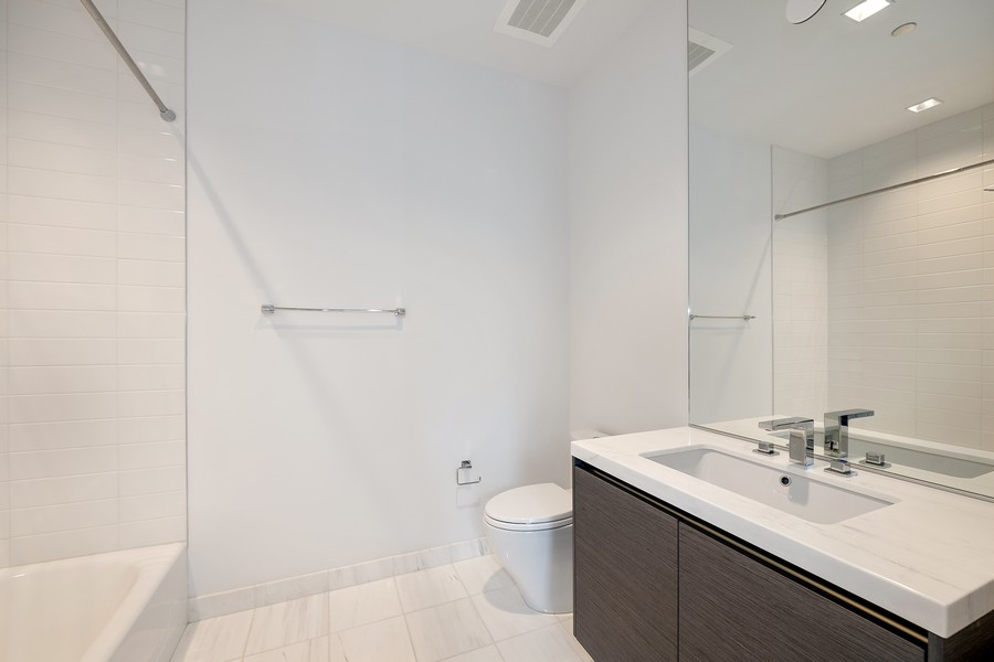 Real Estate Photography - 4 E. Elm #6N, Chicago, IL, 60611 - 2nd Bathroom