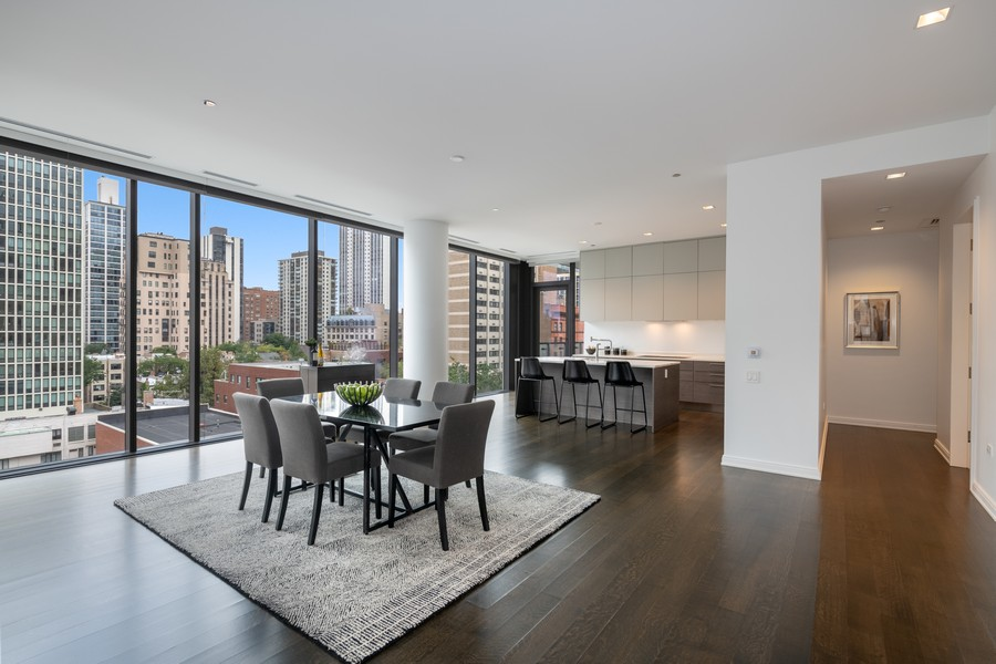 Real Estate Photography - 4 E. Elm #6N, Chicago, IL, 60611 - Kitchen / Dining Room