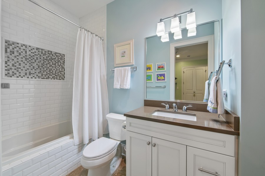Real Estate Photography - 1938 N. Winchester, Chicago, IL, 60647 - Third Bathroom (En Suite)