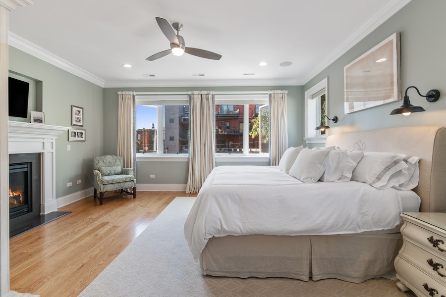 Real Estate Photography - 1938 N. Winchester, Chicago, IL, 60647 - Master Bedroom