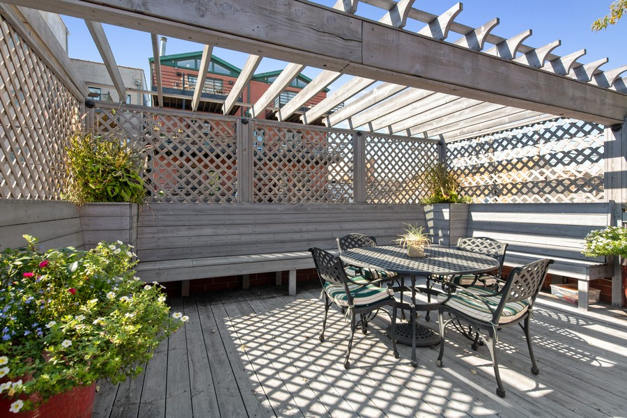 Real Estate Photography - 1938 N. Winchester, Chicago, IL, 60647 - Garage Roof Deck