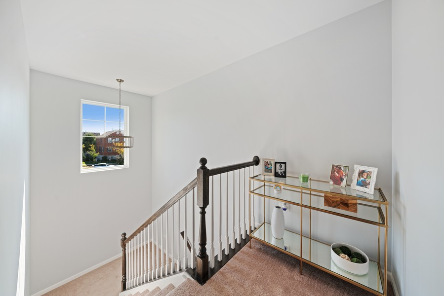 Real Estate Photography - 875 Lewisburg, Aurora, IL, 60504 - Stairwell