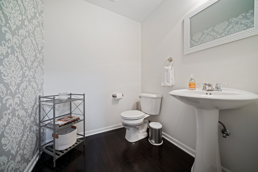 Real Estate Photography - 875 Lewisburg, Aurora, IL, 60504 - Powder Room - Main Level
