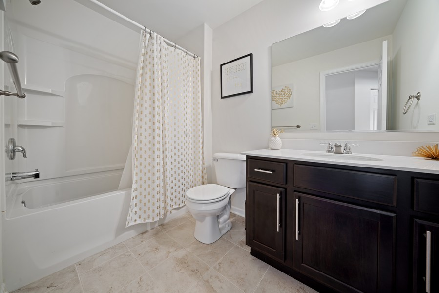 Real Estate Photography - 875 Lewisburg, Aurora, IL, 60504 - Second Bathroom