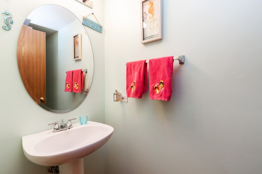Real Estate Photography - 884 Fox Chase Drive, Round Lake Beach, IL, 60073 - Powder Room