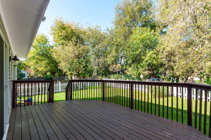 Real Estate Photography - 884 Fox Chase Drive, Round Lake Beach, IL, 60073 - Deck