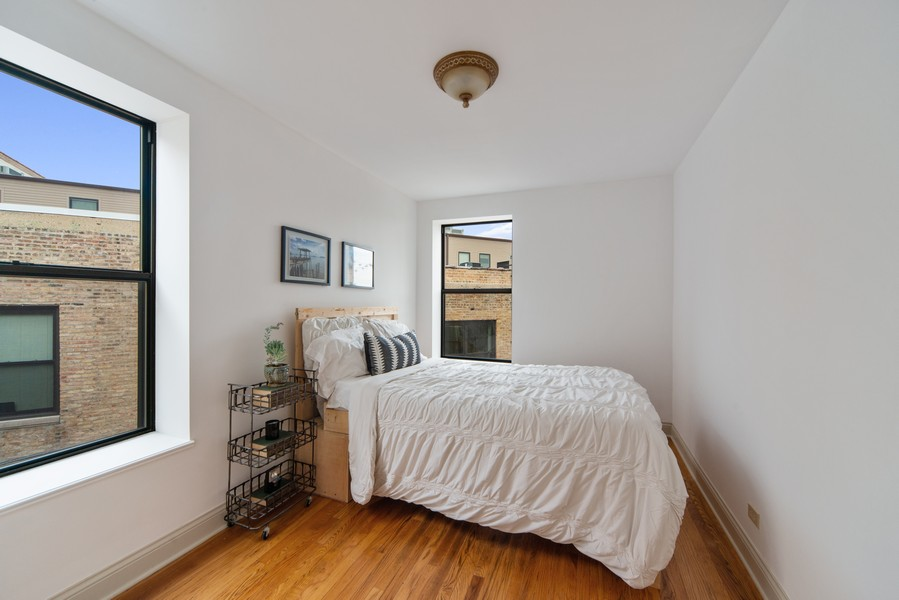 Real Estate Photography - 2735 N. Kimball, #6, Chicago, IL, 60647 - Second Bedroom
