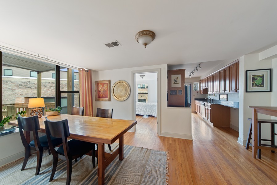 Real Estate Photography - 2735 N. Kimball, #6, Chicago, IL, 60647 - Dining Room