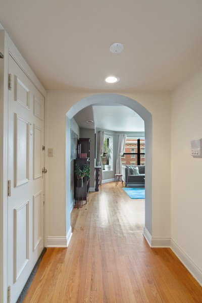 Real Estate Photography - 2735 N. Kimball, #6, Chicago, IL, 60647 - Foyer