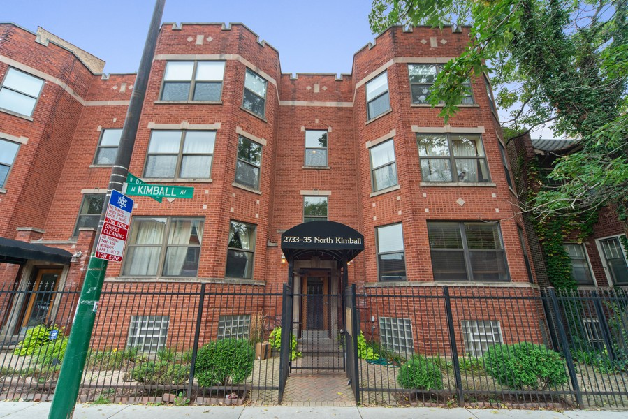 Real Estate Photography - 2735 N. Kimball, #6, Chicago, IL, 60647 - Front View