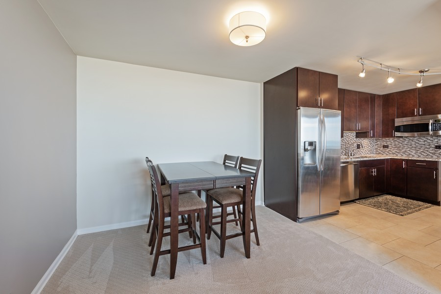 Real Estate Photography - 505 N. Lake Shore Drive, Unit #1606, Chicago, IL, 60611 - Dining Area