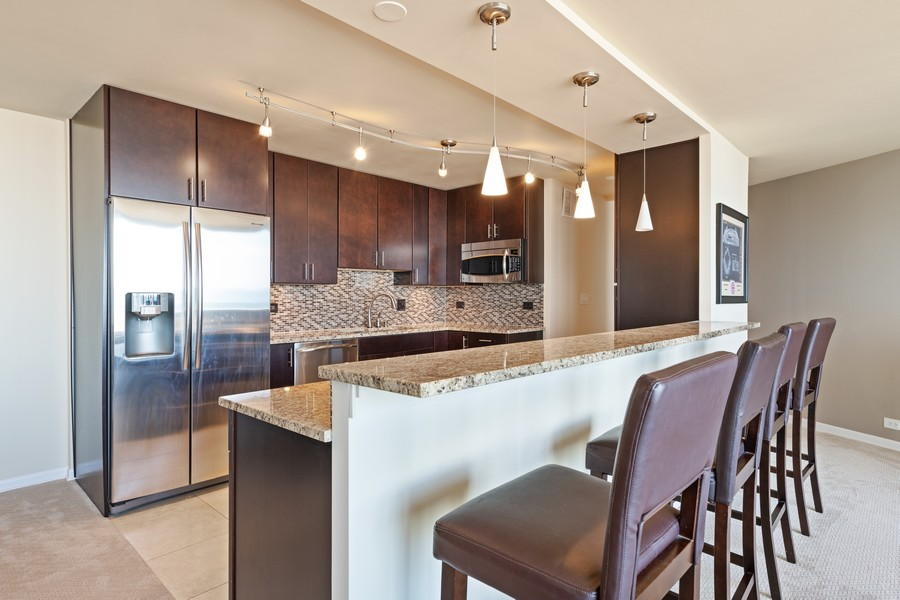 Real Estate Photography - 505 N. Lake Shore Drive, Unit #1606, Chicago, IL, 60611 - Kitchen