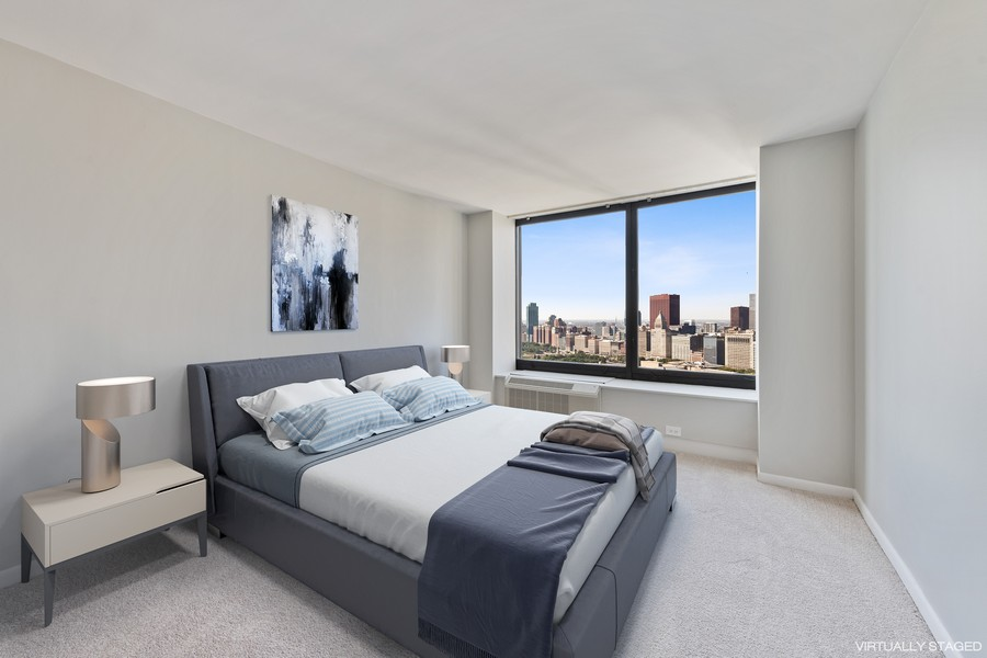 Real Estate Photography - 155 N Harbor Dr, Chicago, IL, 60601 - Bedroom