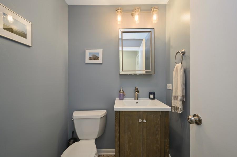 Real Estate Photography - 1606 Longmeadow, Glenview, IL, 60026 - Powder Room