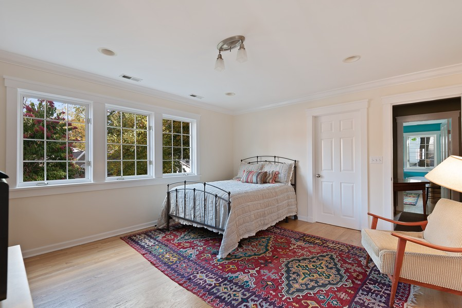 Real Estate Photography - 2433 Simpson, Evanston, IL, 60201 - 2nd Bedroom