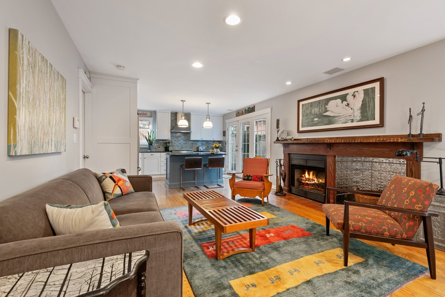 Real Estate Photography - 2433 Simpson, Evanston, IL, 60201 - Family Room