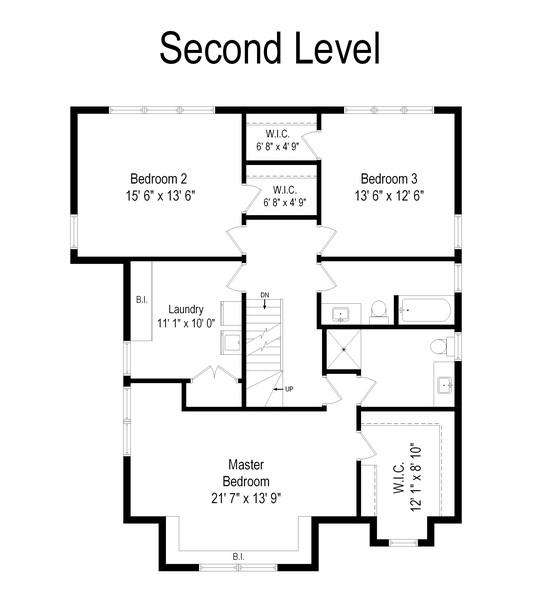 Real Estate Photography - 2433 Simpson, Evanston, IL, 60201 - Floor Plan