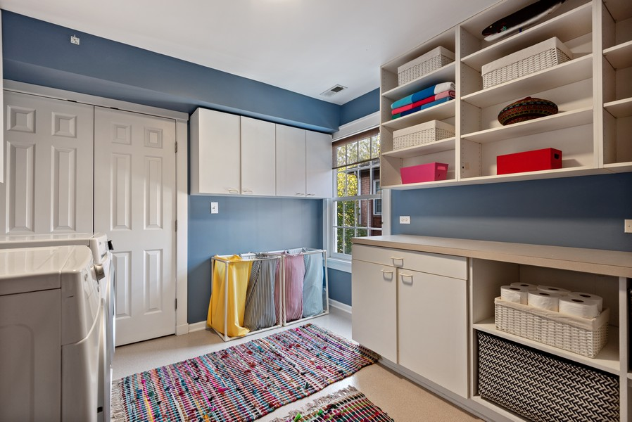 Real Estate Photography - 2433 Simpson, Evanston, IL, 60201 - Laundry Room