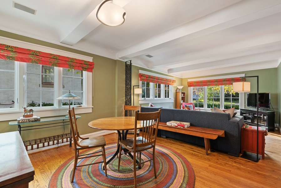 Real Estate Photography - 2433 Simpson, Evanston, IL, 60201 - Living Room / Dining Room