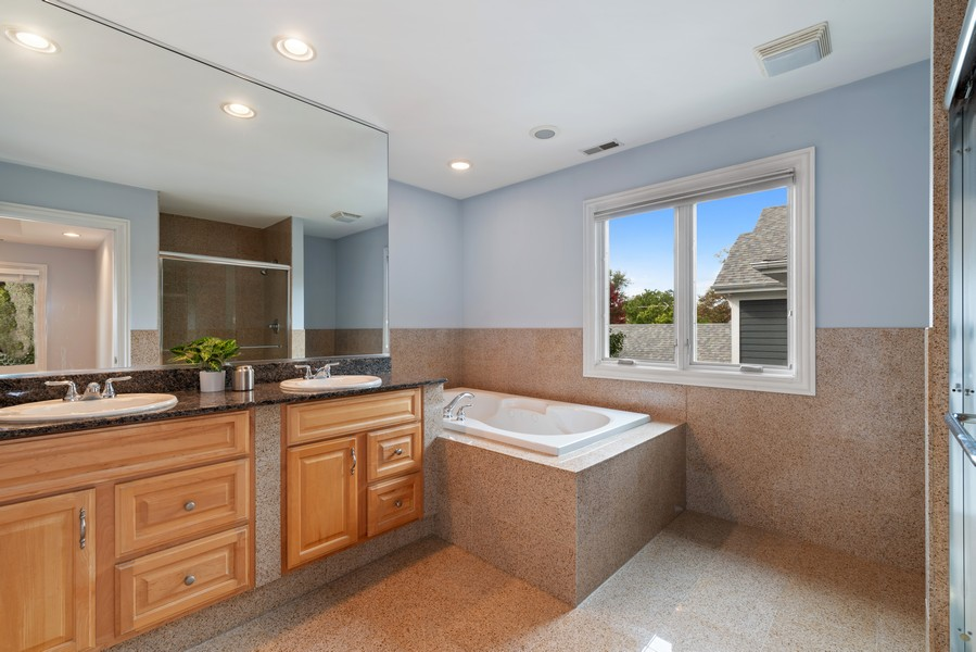 Real Estate Photography - 2328 Illinois, Northbrook, IL, 60062 - Master Bathroom