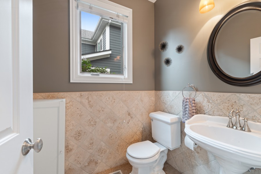 Real Estate Photography - 2328 Illinois, Northbrook, IL, 60062 - Powder Room